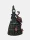 1 PC Resin Nightmare Witch Figurine Statue Dark Bizarre Art Creepy Halloween Sculpture Decorating Bedroom Living Room Garden Patio Yard Lawn Ornament - #03