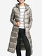 Casual Loose Portable Pockets Hooded Women Light Down Long Jackets