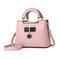 Women Faux Leather Tote Bag Handbag Shoulder Bag - Pink
