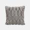 Geometrische Plüsch einfarbige Kissen Schlafzimmer Sofa Kissen Zimmer Living Square Kissenbezug - Grau