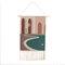 手織りのホームステイタッセルタペストリーの装飾北欧のメーターボックスぶら下がっている背景布の寝室 - #4