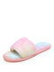 Women Casual Simple Ombre Plush Warm Comfortable Home Slippers - Pink