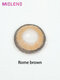 2 Pcs Rome Brown Non-prescription Yearly Colored Contact Lenses - Brown