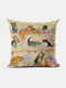 Cats And Dogs Pattern Linen Cushion Cover Home Sofa Art Decor Throw Pillowcase - #12