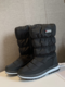Women Snow Boots Casual Warm Round Toe Mid-Calf Flat Cotton Boots - Black