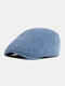 पुरुषों और महिलाओं के ठोस रंग आकस्मिक आउटडोर आगे टोपी फ्लैट टोपी टोपी टोपी - हल्का नीला