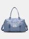 Reisetasche Sporttasche Sporttasche Schulter Weekender Overnight Bag für Damen mit Nasstasche und Trolley - Dunkelblau