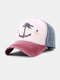 Unisex Distressed Cotton Contrast Color Patchwork Boat Anchor Stars Printed Sunscreen Baseball Caps - #04