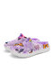 SOCOFY Butterfly Print Comfy Light Weight Warm Slip On Outdoor Cotton Slippers Flat Mule Shoes - Purple
