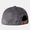 Men & Women Retro Corduroy Solid Color Melon Leather Hat For Men And Women In Autumn And Winter Warm Landlord Hat Casual Curled Sailor Hat - Grey