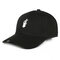 Womens Mens Solid Color Cotton Baseball Cap Sunshade Outdoor Sports Hat With Gesture - Black