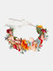 Christmas Forest Waterweed Corolla Colored Flower Bride Wedding Gift Headband - Colorful