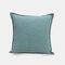 Solid Color Sofa Pillowcase Polyester Linen Creative Car Cushion Room Living Room Pillow - Light Blue