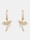 Alloy Cute Micro-set Bird-shape Earrings For Women - White