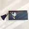 Women National Style Multi-function Wallet Purse - Navy