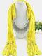 20 Colors Bohemian Women Scarf Necklace Shawl Autumn Winter Tassel Pendant Necklace - #11