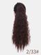 11 цветов кукуруза Пермский хвост Волосы Расширения пушистые длинные вьющиеся Парик шт. - #03