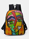 Nylon Breathable Splicing Color Stylish Design Large Capacity Daily Commute Backpack - Multicolor
