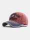 Men Washed Cotton Letter Pattern Patch Baseball Cap Outdoor Sunshade Adjustable Hats - #03