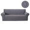 1/2/3/4 seater Stretch Couch Cover Waterproof Elastic Stretch Sofa Cover Waffle Fabric Solid Color Couch Slipcover - Grey