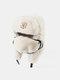 男性と女性の防寒冬用トラッパーハットマスクトラッパーハット付きの厚い冬用ハット耳栓 - #14