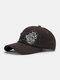 Unisex Cotton Broken Hole Letters Embroidery All-match Sunshade Baseball Cap - Dark Gray