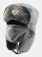 男性防寒冬用トラッパーハットマスクトラッパーハット付き厚手の冬用ハット耳栓 - #05