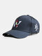 Unisex Cotton Solid Color Letter Embroidery Fashion Sun Protection Baseball Caps - Black