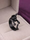 Vintage Animals-Shape Women Ring Cute Cat Eat Fish Ring Jewelry Gift - #06
