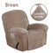 <US Instock> Waterproof Non Slip Suede Stretch Recliner Slipcover Soft Sofa Arm Chair Cover - #04