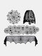 1 PC Halloween Family Dining Table Lace Mesh Cloth Spider Web Skeleton Skull Tablecloth Fireplace Festival Party Decoration - #14