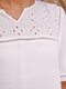 Bohenmia Hollow Out Tassel Short Sleeve Dress for Women - White