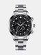 سبيكة غير القابل للصدأ أعمال فولاذية حزام كوارتز Watch تقويم ثنائي العين Watch - #08
