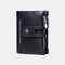 Women Genuine Leather Double Zipper Casual Fashion Solid Color Multi-slot Card Holder Wallet - Black