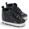 Baby Toddler Shoes Cute Comfy High Top Non Slip Soft Sport Casual Shoes - Black