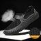 Sapatos Casual Homens Outdoor Confortável Respirável Designe Favo de Mel - Preto
