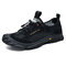 Men Braethable Mesh Slip Resistant Toe Protection Soft Outdoor Hiking Shoes - Black