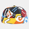Men & Women Contrast Color Graffiti Pattern Brimless Beanie Landlord Cap Skull Cap - #01