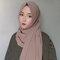 Women Solid Color Muslim Scarf Hijab Chiffon Long Scarf - #05