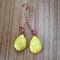 Bohemian Drop-Shaped Turquoise Pendant Women Earrings Jewelry Gift - Yellow