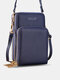 Simple All-match Multi-slots Stitch Detail Multi-pockets Touch Screen 6.8 Inch Phone Bag - Royal Blue