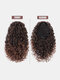 8 Color Africa Small Curly Ponytail Soft Fluffy Gradient Middle-Length Curly Wig Piece - #04