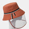 COLLROWN Removable Sun Visor Fisherman Hat Anti-droplet Cap Cover Face  - Orange