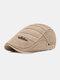 पुरुषों धारीदार पैटर्न ठोस रंग आकस्मिक फैशन Sunvisor फ्लैट टोपी आगे टोपी टोपी टोपी - हाकी