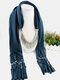 20 Colors Bohemian Women Scarf Necklace Shawl Autumn Winter Tassel Pendant Necklace - #10