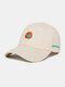Unisex Cotton Embroidery Animal Pattern Summer Casual Sunshade Fashion Baseball Hat - Beige