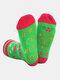 メンズ&レディースコットンゴールドパウダーレターストライプパターンカジュアルフェスティブクリスマスチューブソックス - #03
