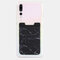 Marble Pattern Lycra Mobile Phone Back Sticker Card Case Multi-function Thermal Transfer Mobile Wallet - #1