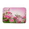180x180cm Shower Curtain/3-Piece Floor Mat Butterfly Pink Rose Carpet Toilet Mat Bathroom Accessories - #1