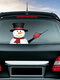 Navidad muñeco de nieve elfo limpiaparabrisas pegatinas extraíbles parabrisas trasero Coche pegatina - #05